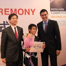 Kevin Zhu, Pres Wang and Lin Menuhin