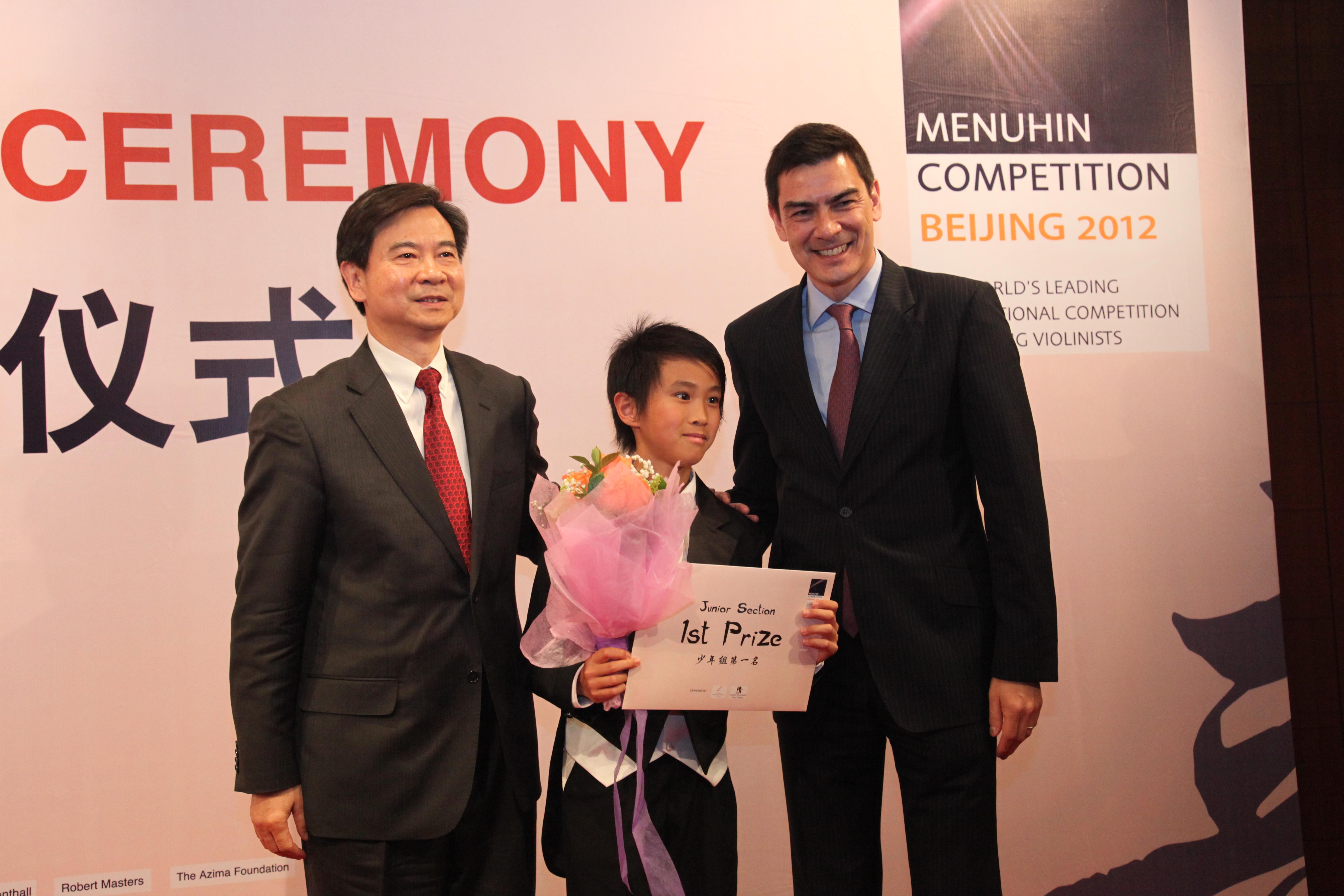 Kevin Zhu, Pres Wang and Lin Menuhin