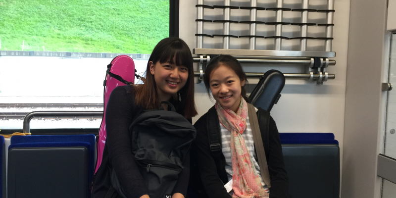 SongHa Choi and Yesong Sophie Lee on their way to Gstaad Menuhin Festival & Academy