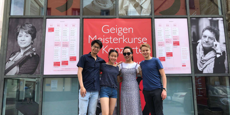Menuhin Competition prizewinners at Kronberg Academy